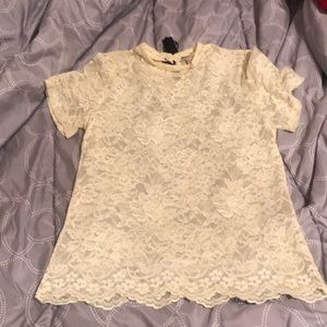 Cream lace top. New with tags!